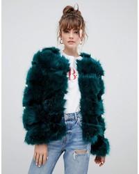 New Look Fluffy Faux Fur Coat