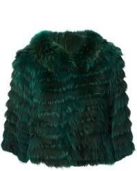 Yves Salomon Cropped Coat