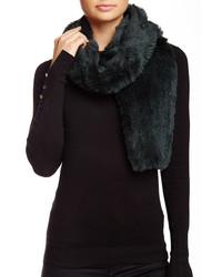 Genuine rabbit fur knit scarf medium 341057