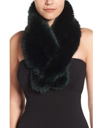 Halogen faux fur pull through scarf medium 817579