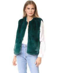 Evita faux fur vest medium 5173724