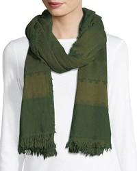 Eileen Fisher Geometric Striped Wool Scarf
