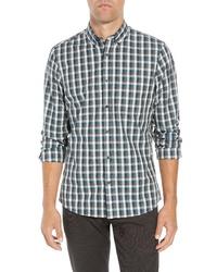 Nordstrom Men's Shop Slim Fit Non Iron Check Sport Shirt