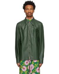 Gucci Green Lambskin Shirt