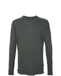 Dark Green Henley Sweater