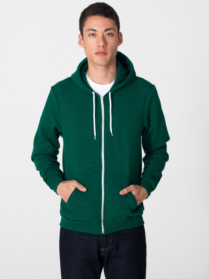 American Apparel Salt And Pepper Zip Hoodie | Where to buy u0026 how to wear