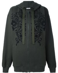 P a r o s h embroidered florals zip up hoodie medium 830890