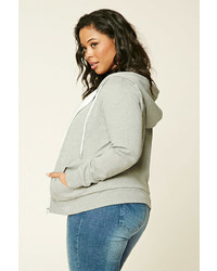 58029e878ad ... Forever 21 Plus Size Zip Up Hoodie ...