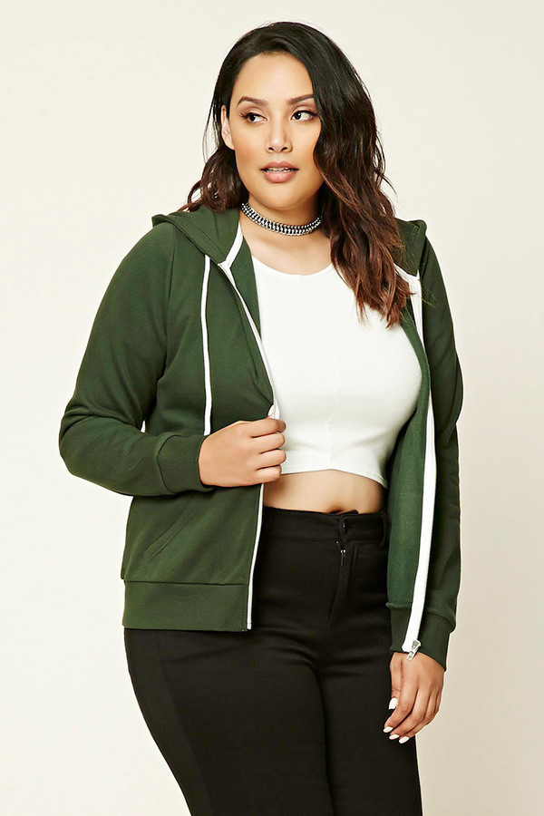 forever 21 plus size zip up hoodie | where to buy & how to wear