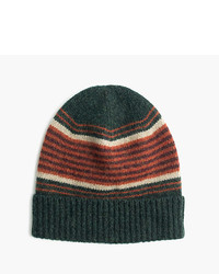 J.Crew Lambswool Beanie Hat In Blanket Stripe