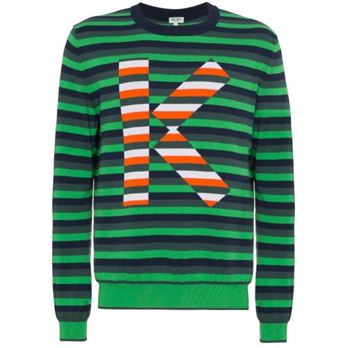 40789bba Kenzo Striped Logo Jumper, $198   farfetch.com   Lookastic.com