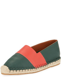 Valentino Striped Jute Trimmed Loafers
