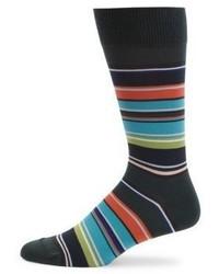 Dark Green Horizontal Striped Socks