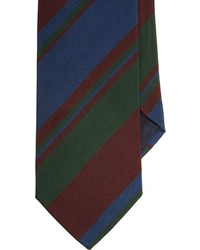 Bigi Mixed Stripe Neck Tie Green