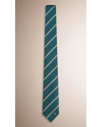 Burberry Modern Cut Striped Silk Tie