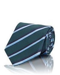 Ermenegildo Zegna Striped Necktie Green