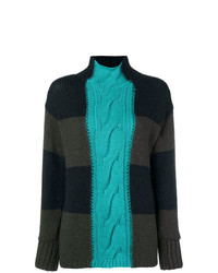 P.A.R.O.S.H. Patchwork Turtleneck Sweater