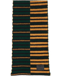 Paul Smith Green Brown Inverted Stripe Scarf