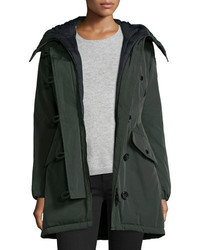 Moncler Aredhel Hooded Down Fur Trim Jacket