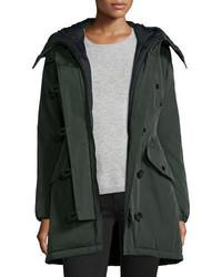 Aredhel hooded down fur trim jacket medium 708447