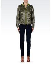 Armani Jeans Hooded Blouson In Nylon