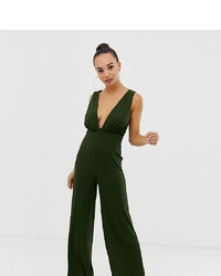 9b4f7a91ece2 Asos Petite Asos Design Petite Cami Jumpsuit With Gold Bar Detail Out of  stock · Parallel Lines Plunge Front Jumpsuit With Strappy Back In Rib