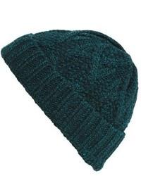 Dark Green Knit Beanie