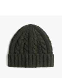 ... J.Crew Cashmere Cable Knit Beanie Hat 5e9fa477d