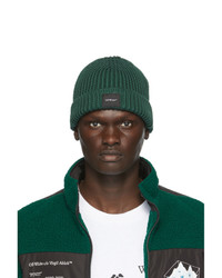 Off-White Green Wool Knit Beanie