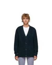 Dark Green Knit Cardigan