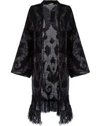 Cecilia Prado Open Front Long Knitted Cardigan