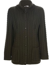 Celine cline vintage cable knit cardigan medium 112895