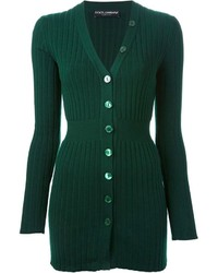 Dolce & Gabbana Fitted Ribbed Cardigan