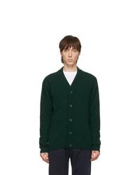 Ps By Paul Smith Green Merino Wool Cardigan