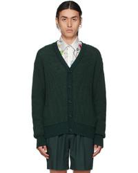 Hugo Green Silk Cardigan