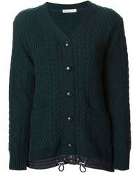 Sacai luck drawstring hem cable knit cardigan medium 112897