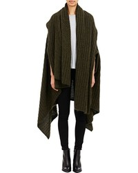 Acne Studios Convertible Wrap Alan Cardigan Green