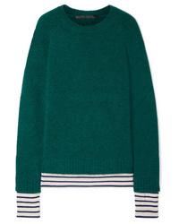 Haider Ackermann Striped Wool Blend Sweater
