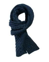 Asos Cable Scarf In 100% British Wool