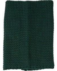 Garter Knit Cowl Neck Scarf