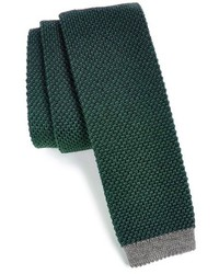 Dark Green Knit Tie