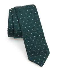 The Tie Bar Birdseye Dot Knit Wool Tie