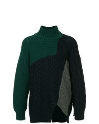 Dark Green Knit Turtleneck