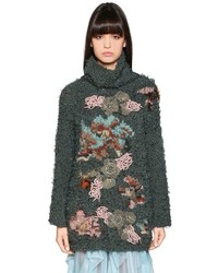 Antonio Marras Embroidered Intarsia Knit Turtleneck