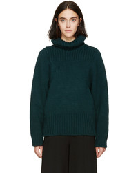 Stella McCartney Green Knit Turtleneck