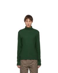 Serapis Green Rib Knit Turtleneck