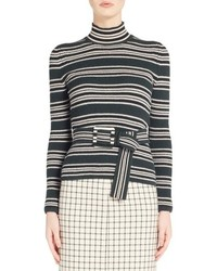 Fendi Stripe Turtleneck Sweater