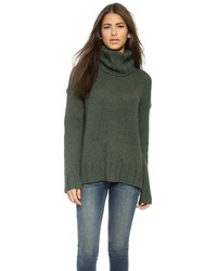 Nili Lotan Turtleneck Oversized Sweater