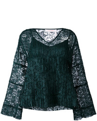 See by Chloe See By Chlo Lace Layered Bell Top
