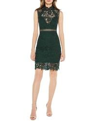 a2e7fd9d63 Dark Green Lace Bodycon Dresses for Women